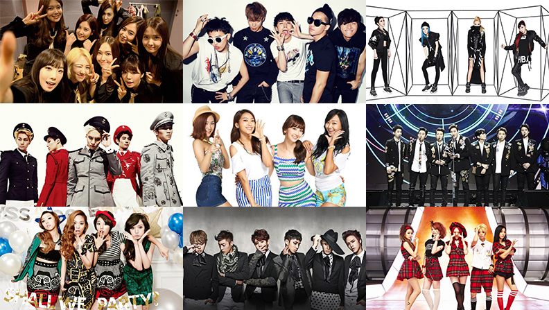 Kpop Group: K-Pop Idol Group Infographic 2014