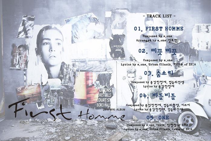 zea first homme tracklist