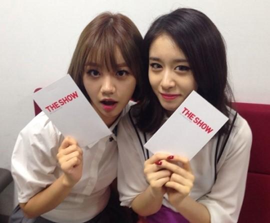 T-ara jiyeon girl's day hyeri the show