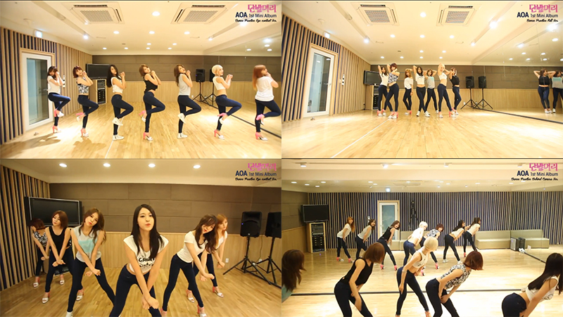 AOA Short Hair Dance Practice