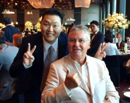 psy and hiddink