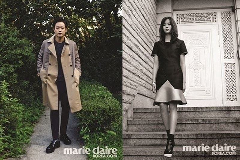 Chun Jeong Myung and Kim So Hyun for Marie Claire
