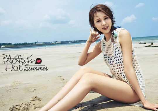 aoa hot summer hyejoeng teaser image