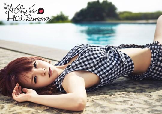 aoa hot summer jimin teaser image