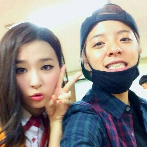 Amber and Seulgi Selca