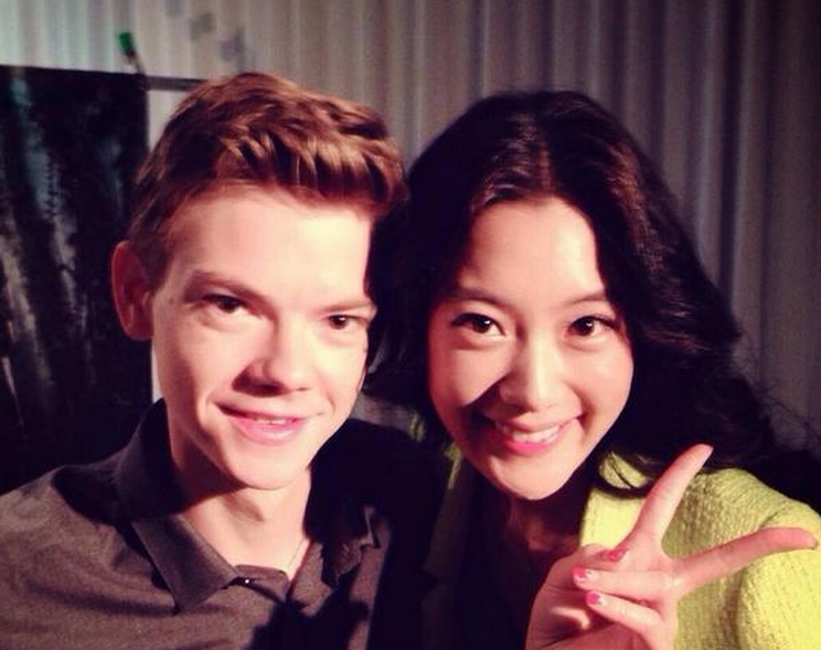 Clara with Thomas Sangster