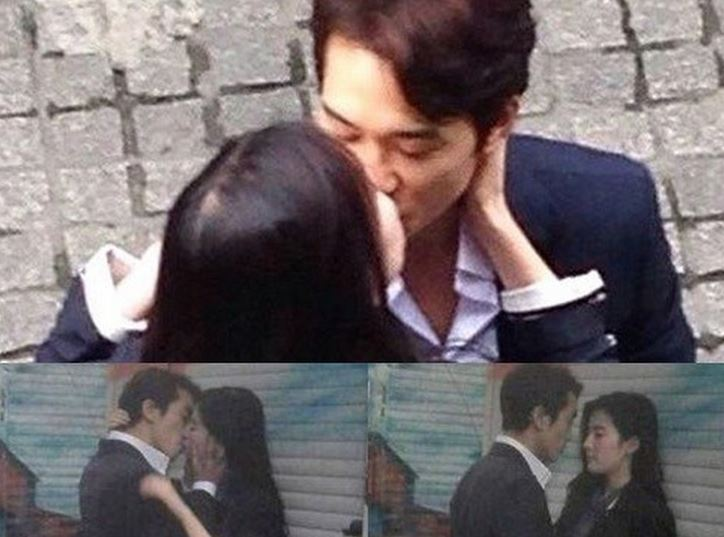 """Stills of Song Seung Hun and Chinese Actress Liu Yifei Kissing for """"The Third Way of Love"""""""