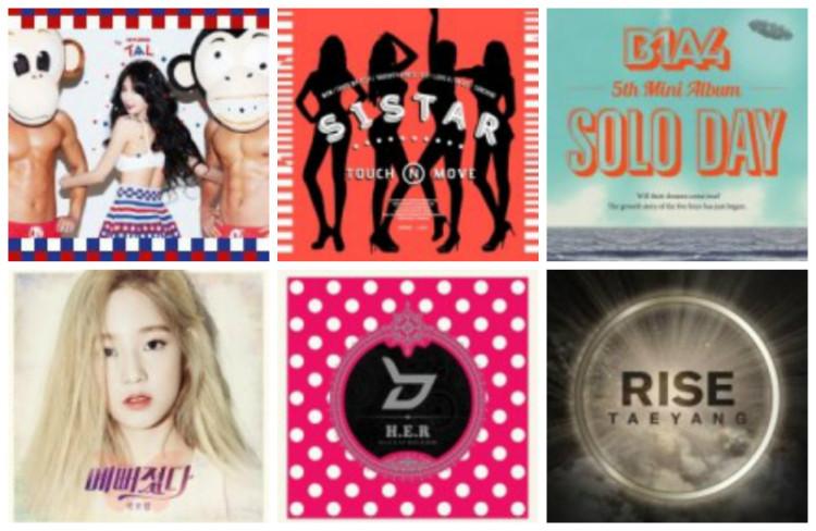 Weekly K-Pop Music Chart 2014 – August Week 4