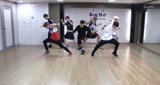 bts danger dance practice