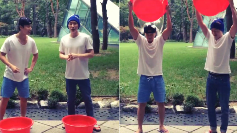 "Super Junior's Donghae and Eunhyuk Respond to ""Ice Bucket Challenge"" Nomination by Siwon"