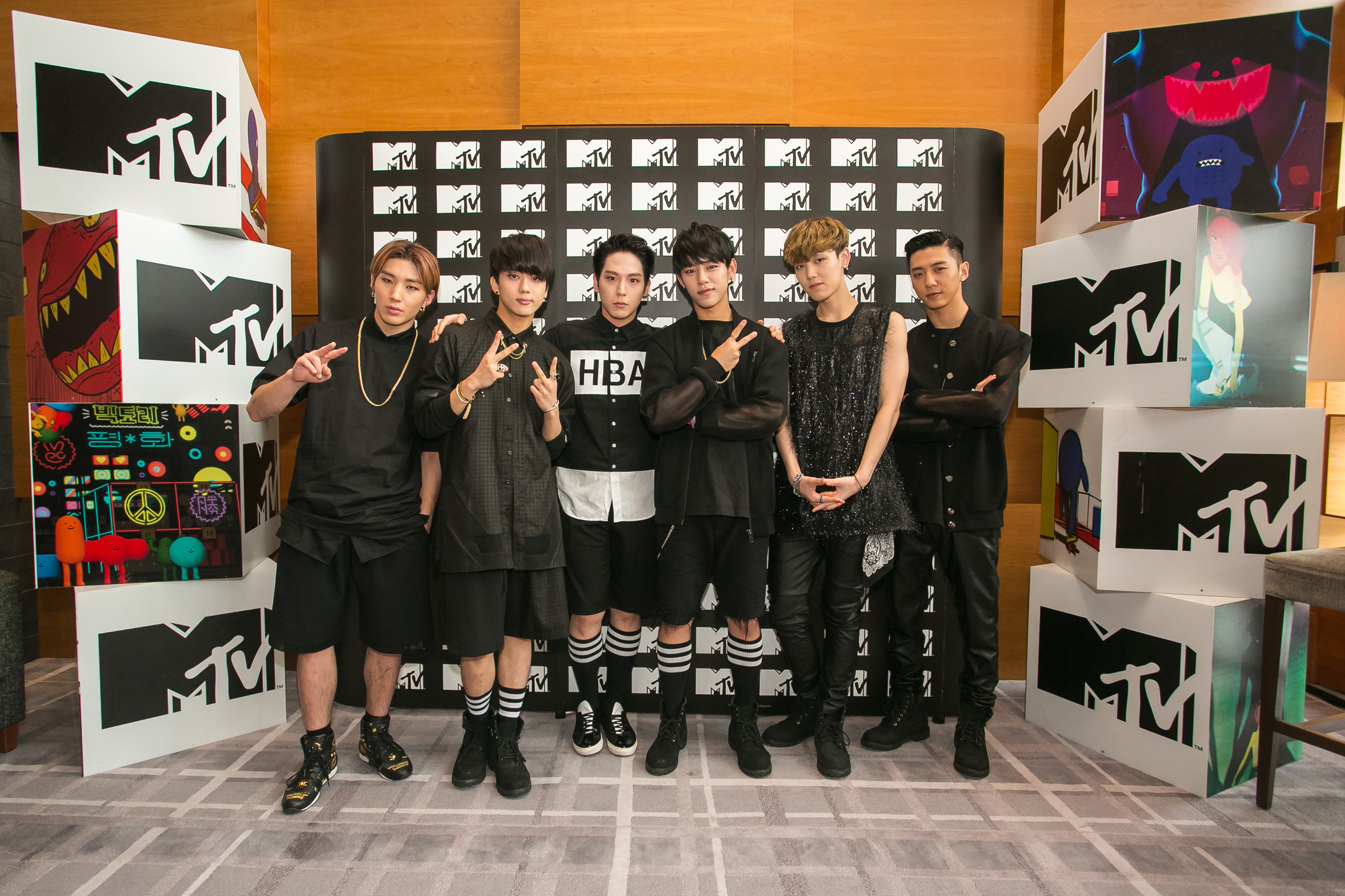 B.A.P Photo Call for MTV Sessions B.A.P (Credit - MTV Asia & Aloysius Lim)