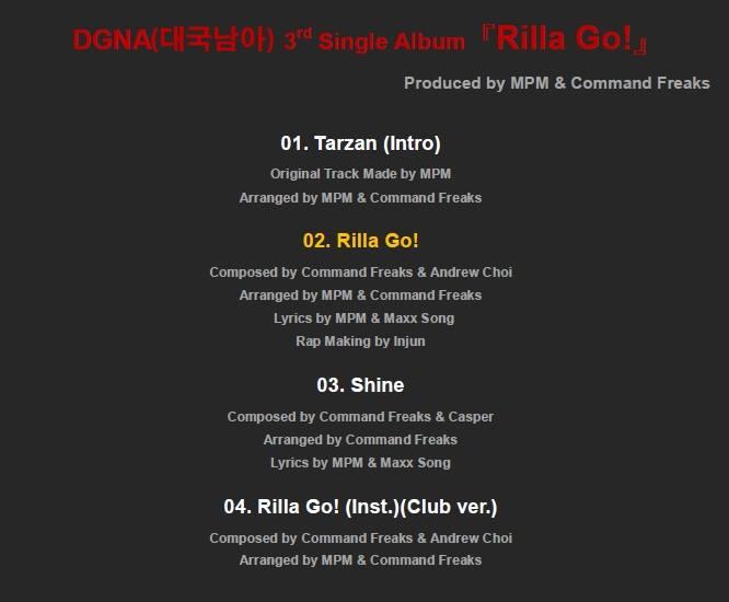 The Boss Rilla Go tracklist