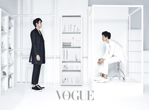 Yoo Yeon Seok and Park Hae Il for Vogue