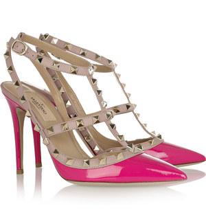 valentino-rockstud-shoes-hot-pink