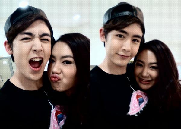 Nichkun with his sister