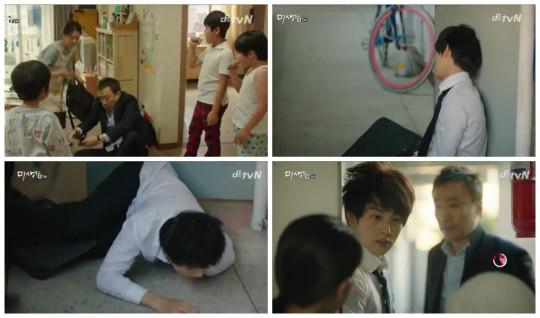 Jang Geu Rae blocking the door because fell asleep drunk - Misaeng