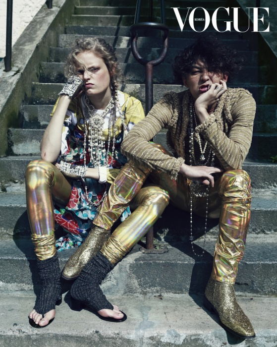 With Hanne Gaby Odiele