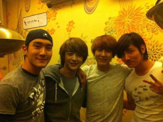 With Siwon, an honorary Kyu-Line member