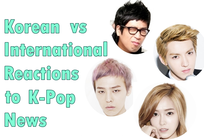 Korean vs international Reactions
