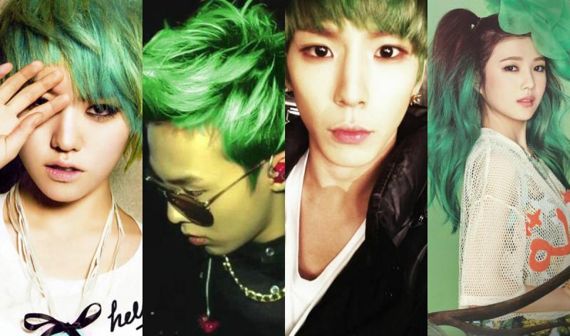 Happy St. Patrick's Day: 15 K-pop Idols with Green Hair