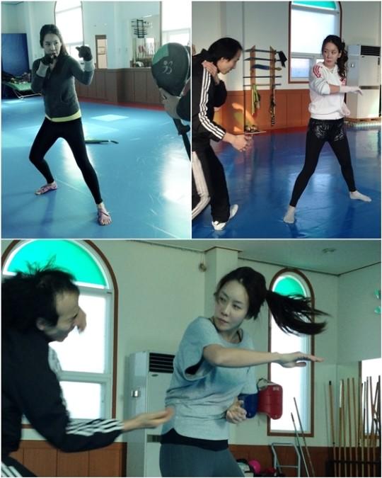 kim jung eun training