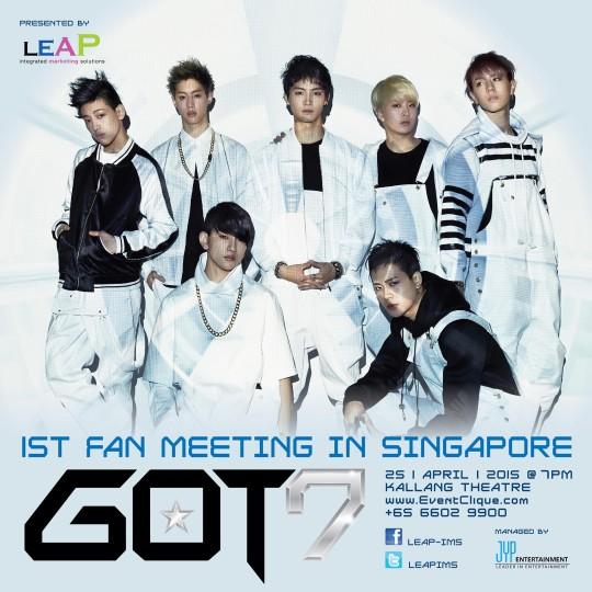 GOT7 poster Singapore Fan Meeting