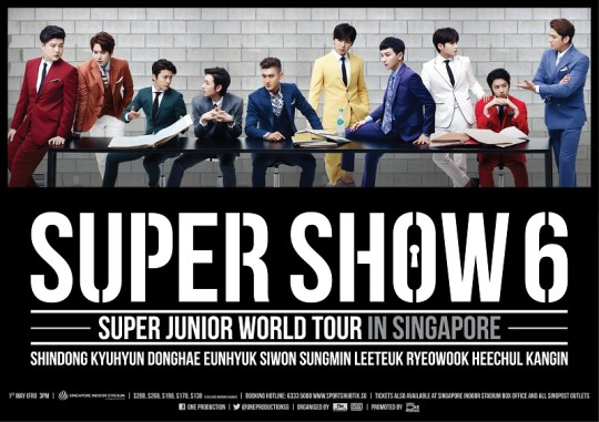 Super Junior Super Show 6 Singapore Poster