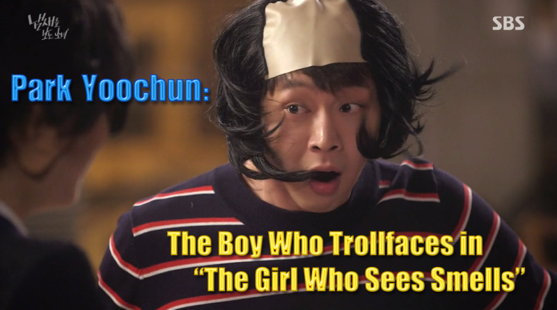 """Park Yoochun: The Boy Who Trollfaces in """"The Girl Who Sees Smells"""""""