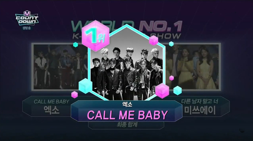 exo-call me babya mcountdown win