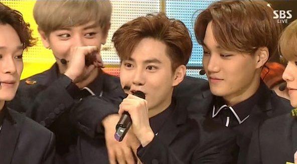 exo inkigayo call me baby first win