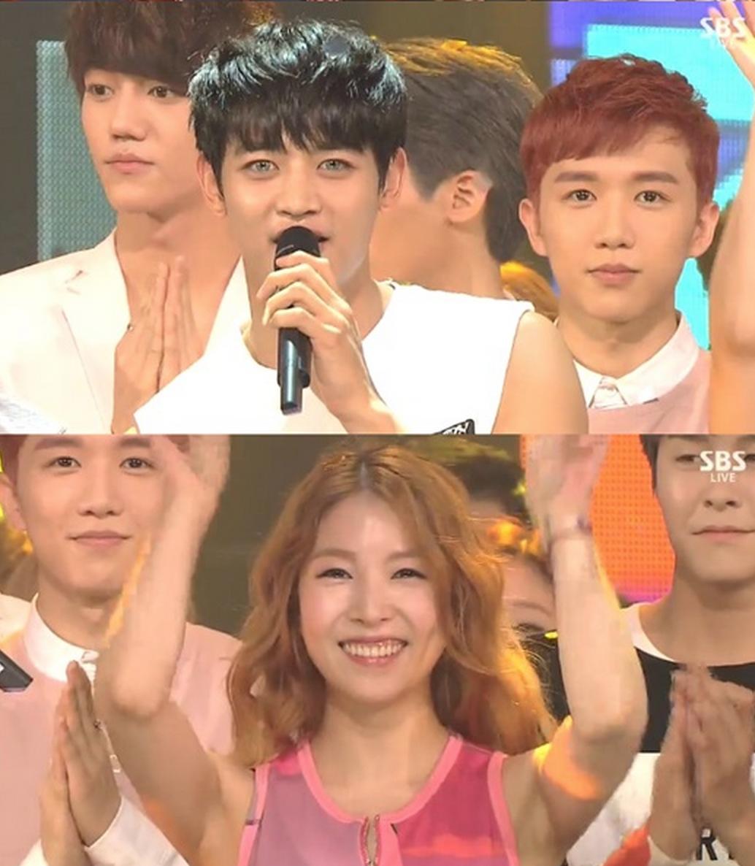 shinee inkigayo view 4th win 1