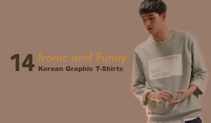 14 ironic and funny korean graphic t-shirts