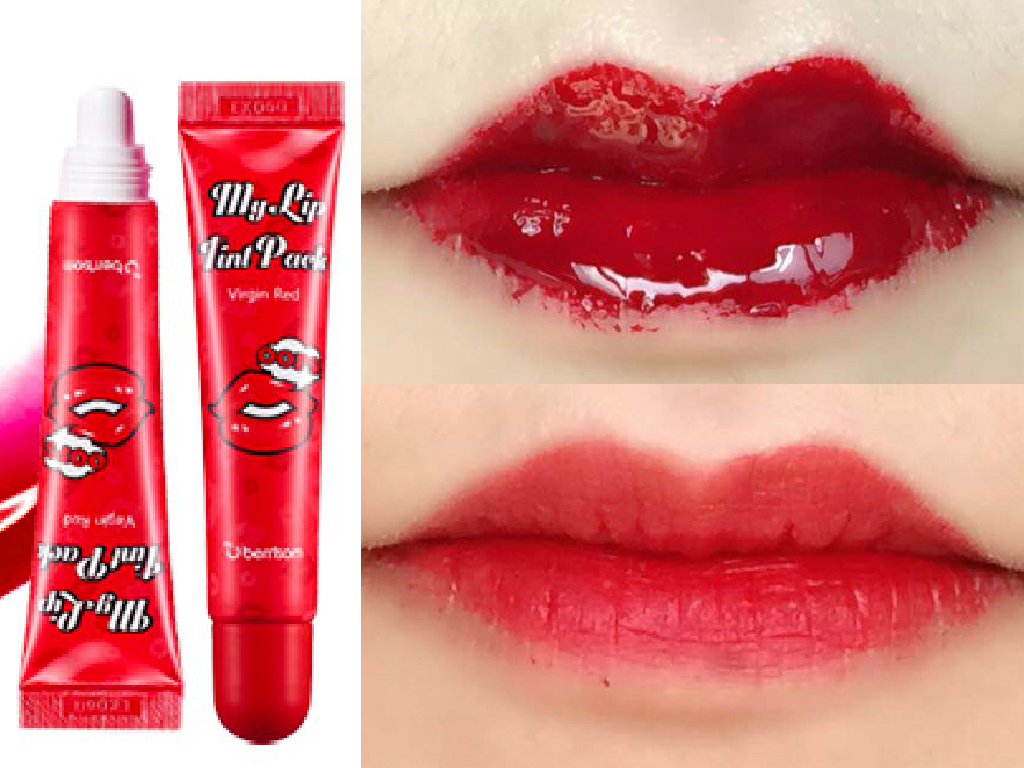 Berrisom peel off lip tint review soompi How to get rid of red lipstick stain