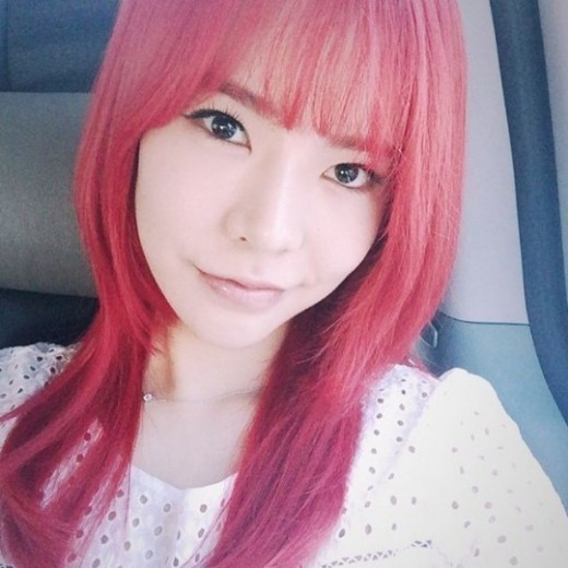 girls' generation sunny red hair