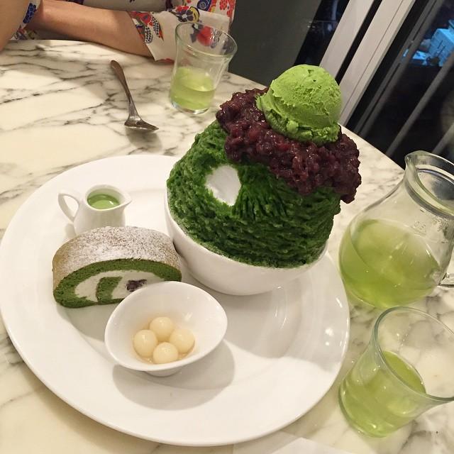 green tea bingsoo