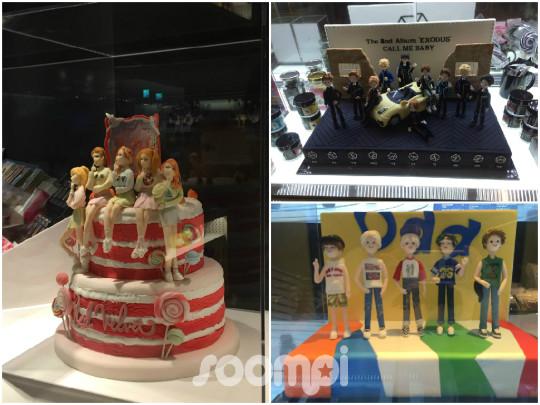 Red Velvet EXO SHINee cakes
