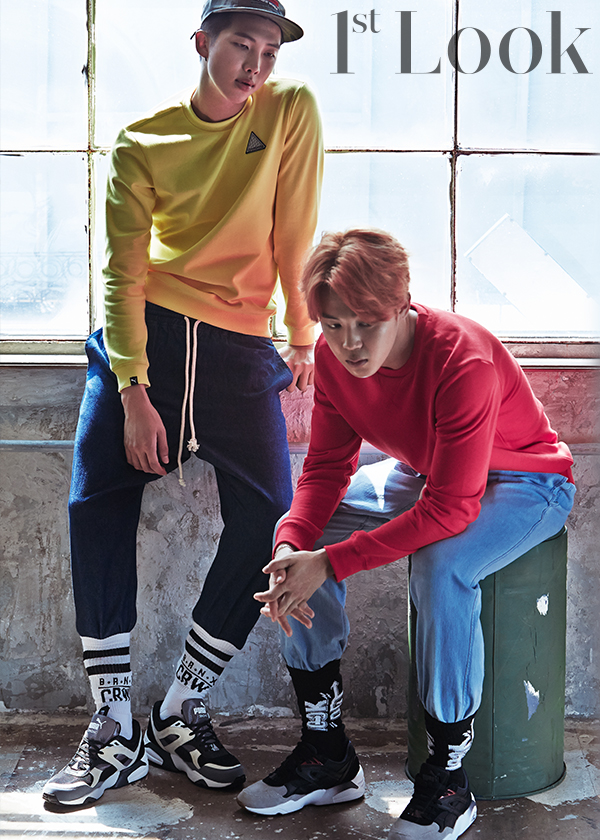 bts rocks athleisure in group pictorial for 1st look soompi