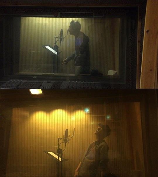 Chanyeol OST recording