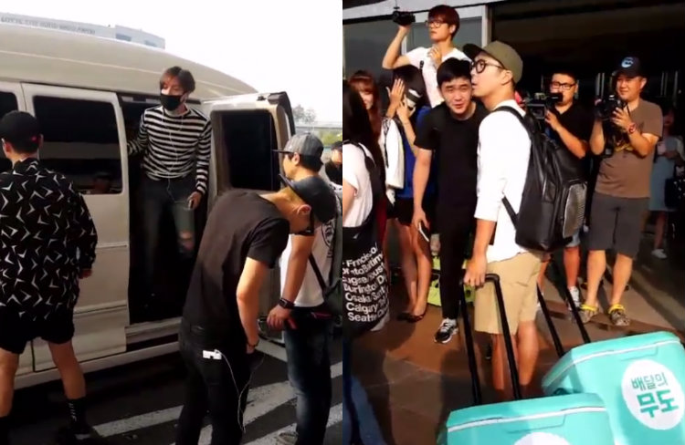 Fans Spot Haha Waiting With Them for SHINee to Arrive at Airport