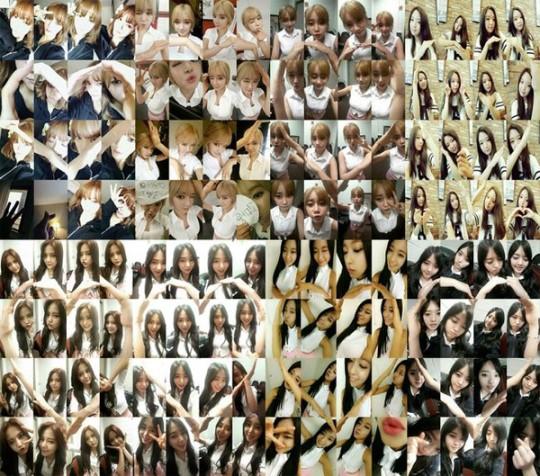 aoa 3rd debut anniversary hearts