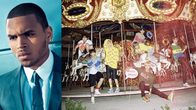 Chris Brown Shows Love for GOT7 on Instagram