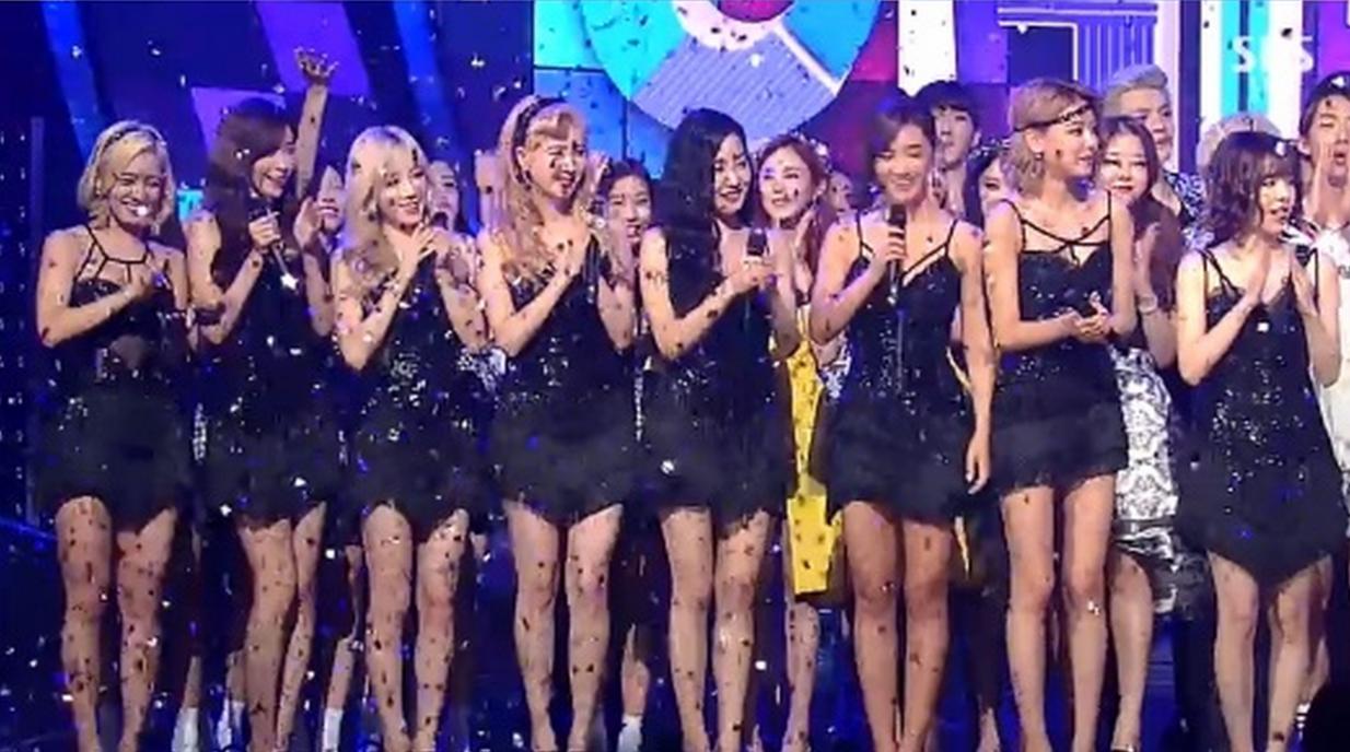 girls' generation inkigayo 9th win 1