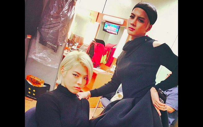 """Jackson and Kangnam Are Ladies in Black for """"National Idol Singing Contest"""""""