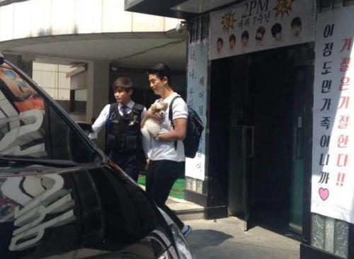 taecyeon adopts a puppy