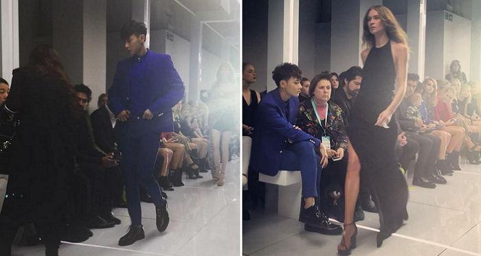 tao versace fashion show