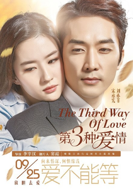 """New Posters of Song Seung Hun and Liu Yifei's """"Third Love"""" Revealed"""