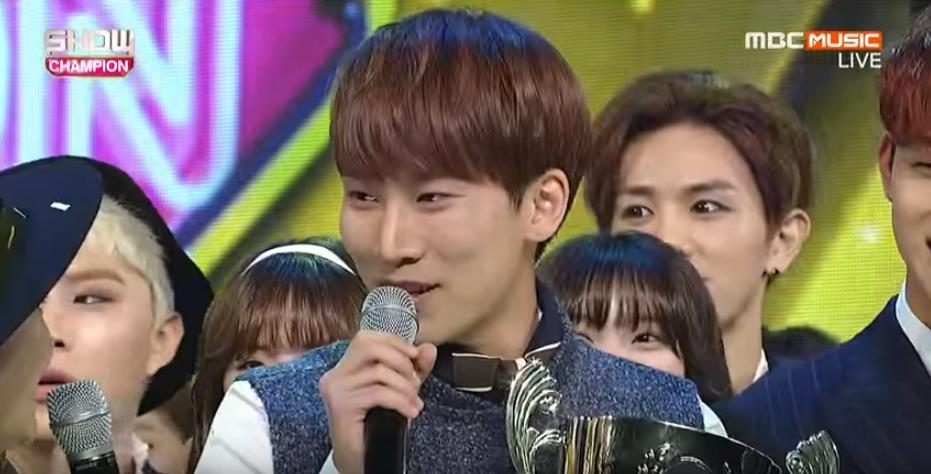 btob eunkwang show champion win
