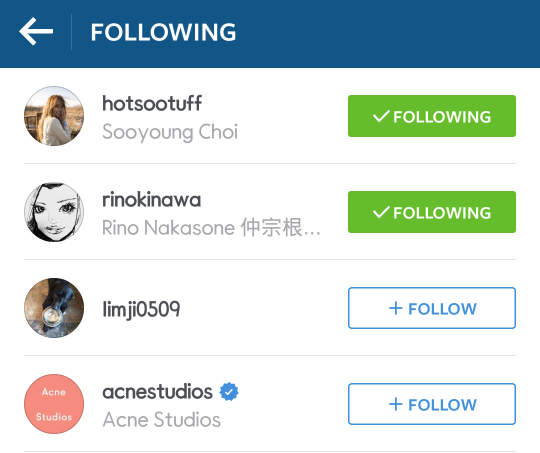jung kyung ho instagram following sooyoung