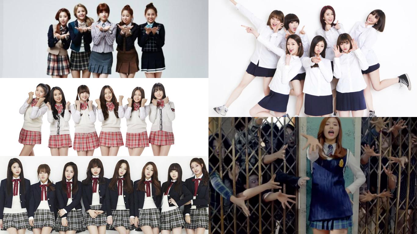 2015 Girl Group School Uniforms