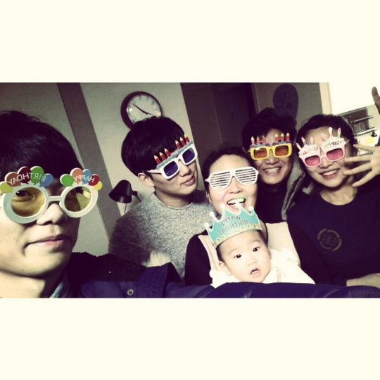 Park SEo Joon and family